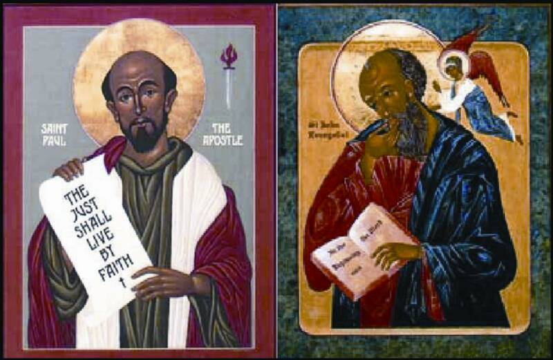 Pictures of Saint Paul and John